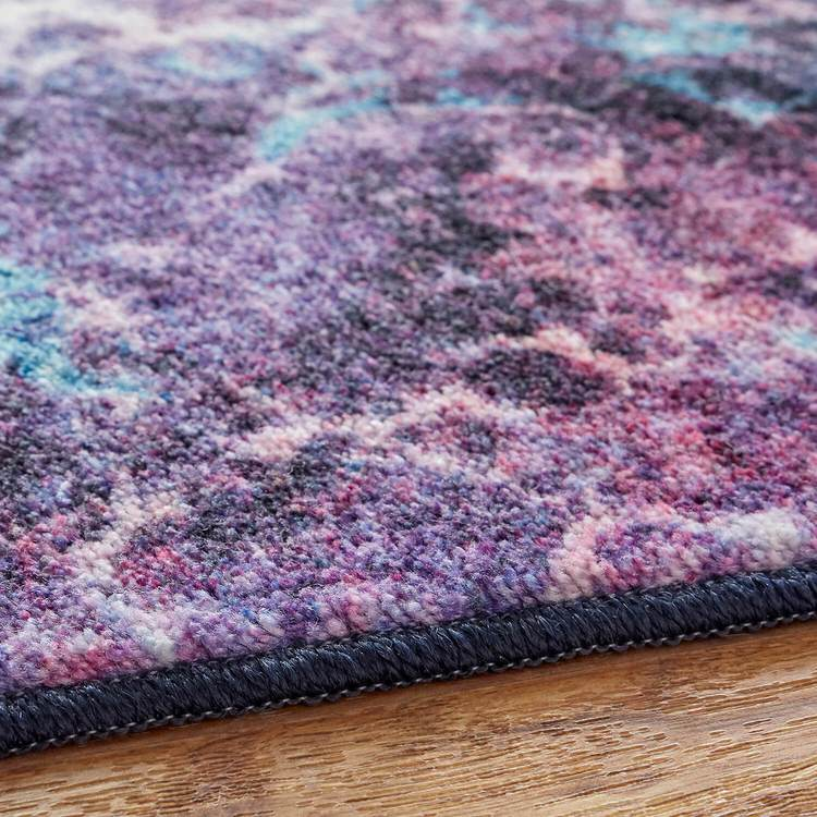 Technicolor Tiles Purple Area Rug