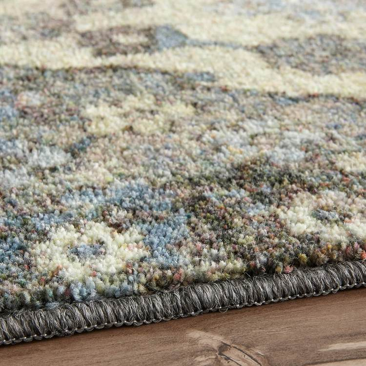 Technicolor Selene Blue  Gray Area Rug