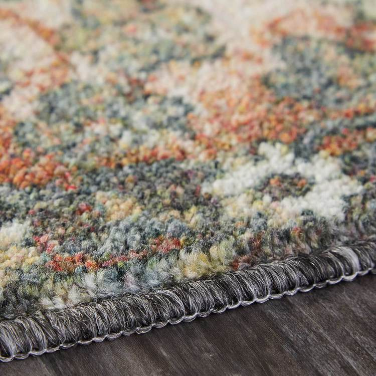Technicolor Selene Blue  Orange Area Rug