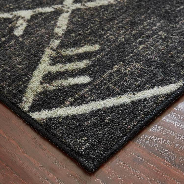 Technicolor Blair Gray  Black Area Rug