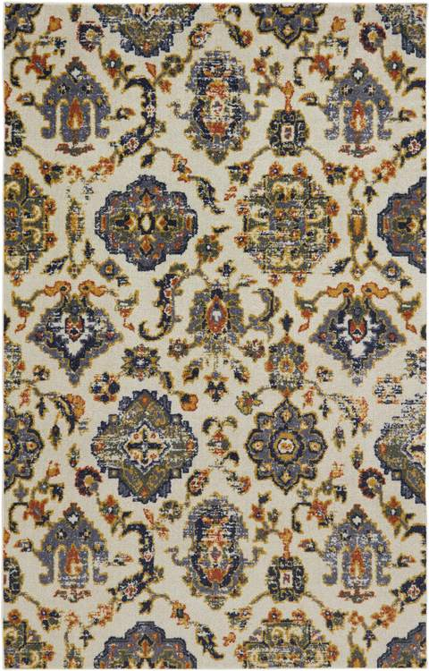 Technicolor Ionian Medium White  Blue Area Rug