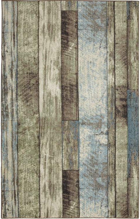 Technicolor Biscayne Gray  Blue Area Rug