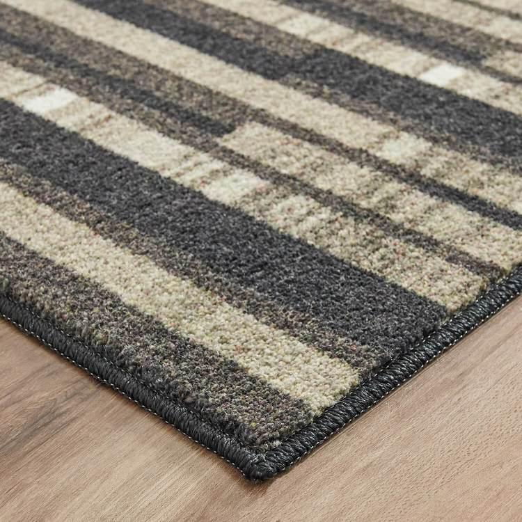 Technicolor Tile Rows Gray Area Rug