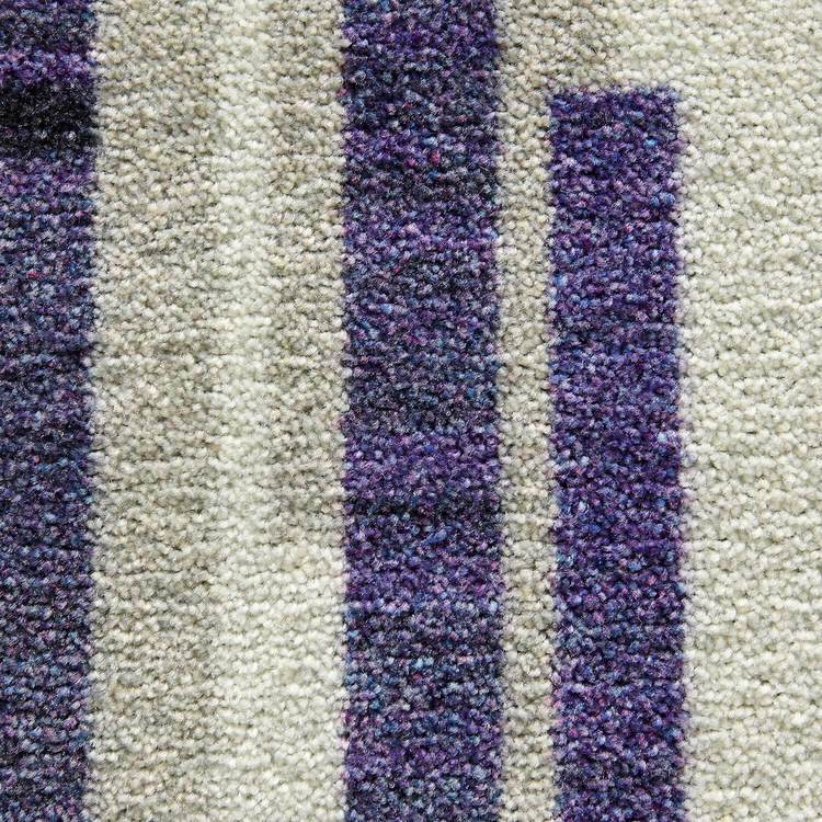 Technicolor Tile Rows Purple Area Rug