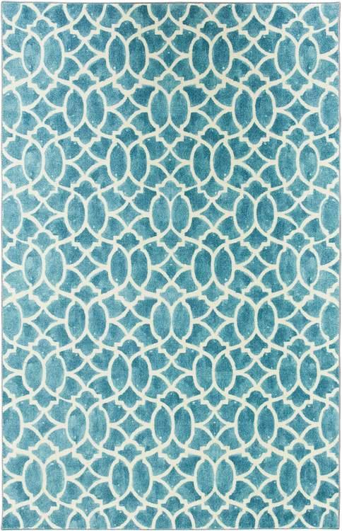 Technicolor Sea Jewel Blue Area Rug