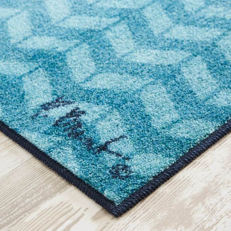 Technicolor Sea Patchwork Blue Area Rug