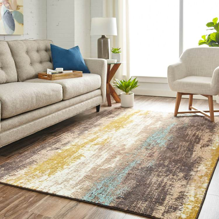 Technicolor Frisco Brown Area Rug