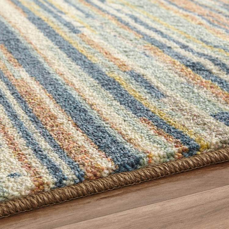 Technicolor Sulu Brown  Blue Area Rug