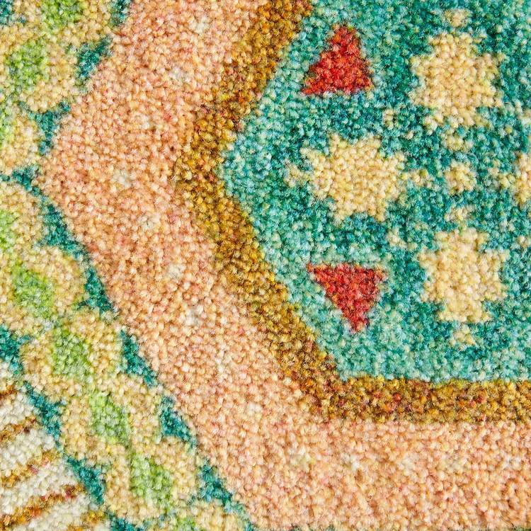 Technicolor Southwest Brown  Blue Area Rug