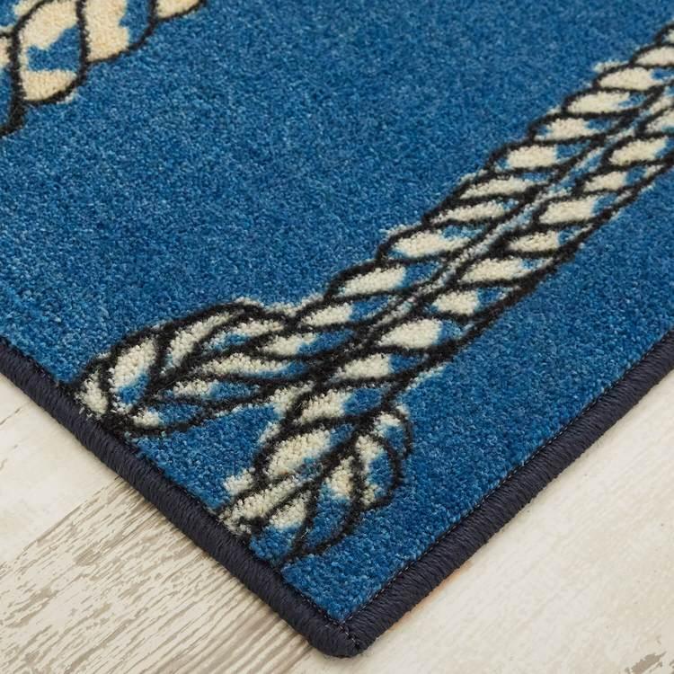 Technicolor Knots Blue Area Rug