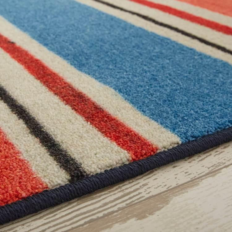 Technicolor Seaside Stripe Red Area Rug