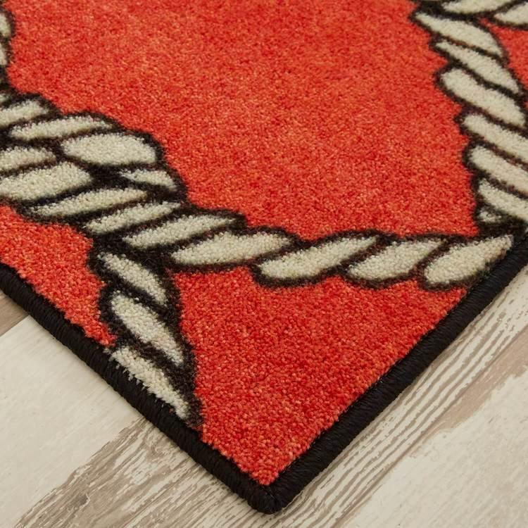 Technicolor Netting Red Area Rug