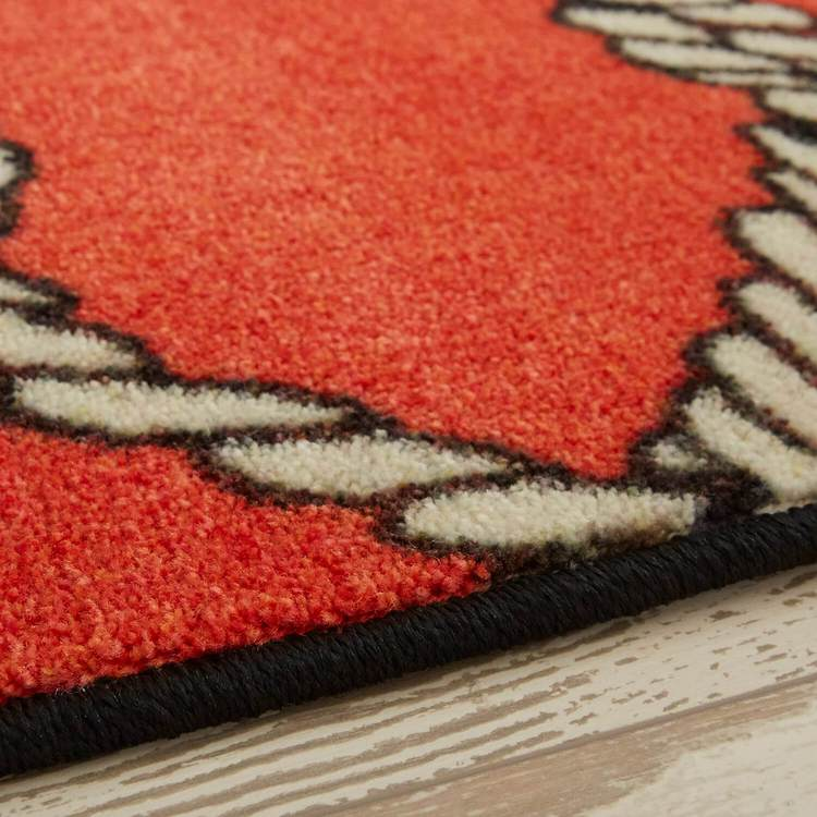 Technicolor Netting Red Area Rug