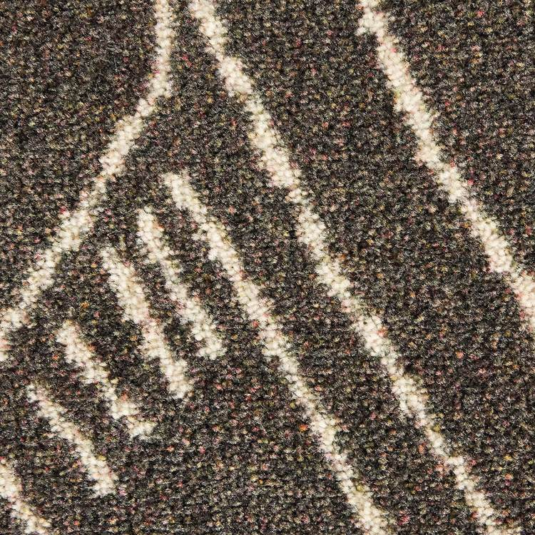 Technicolor Indio Diamond Gray  Brown Area Rug