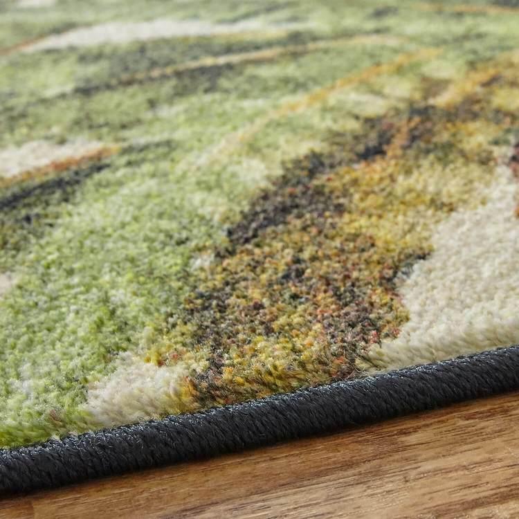 Technicolor Dixon White  Green Area Rug