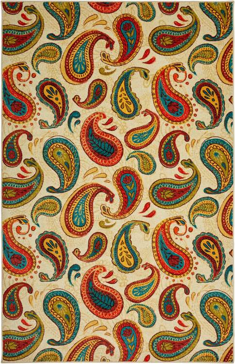 Technicolor Mazarine Brown  Orange Area Rug