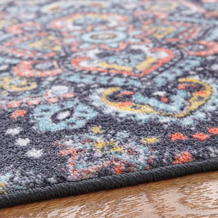 Technicolor Artesia Blue  Orange Area Rug