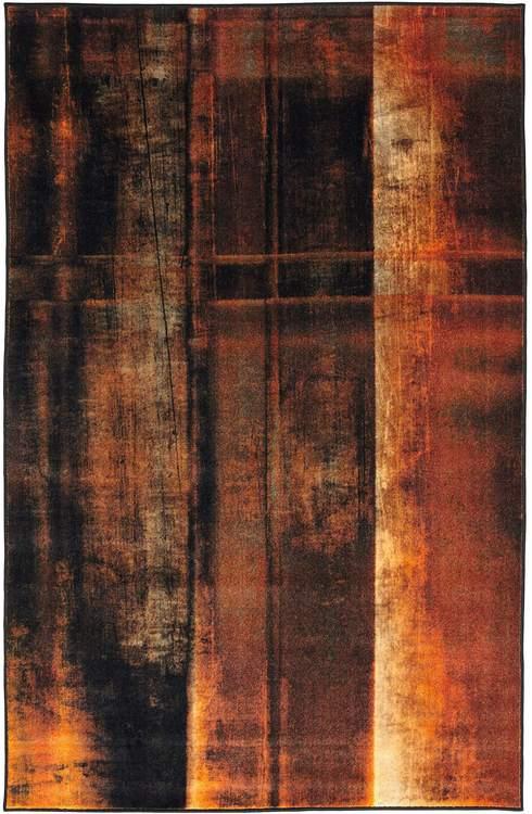 Technicolor Desert Orange Area Rug